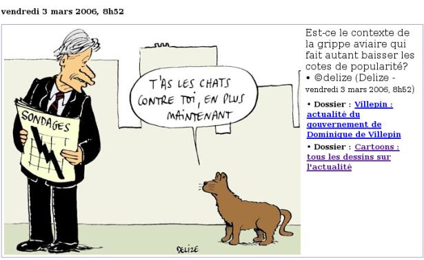 Cartoon chat aviaire