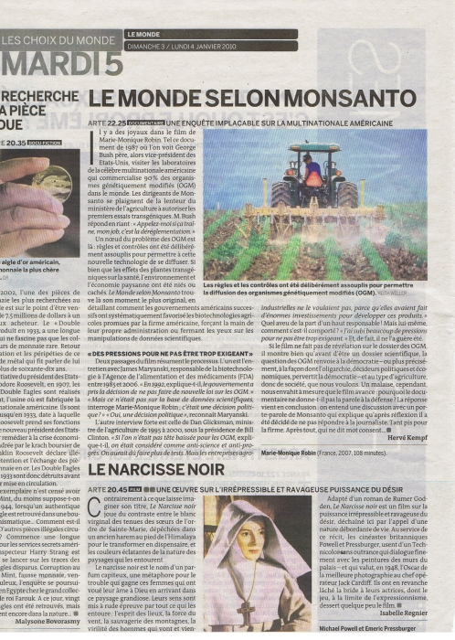 Émission Arte Monsanto